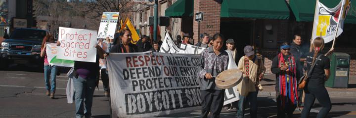 Snowbowl-boycott-March-Hillary-Abe